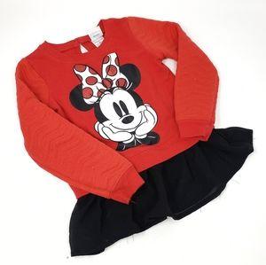 Disney | Minnie Red Black Little Girls Dress 3T